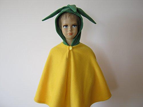 fasching karneval halloween kostüm cape für kleinkinder zitrone