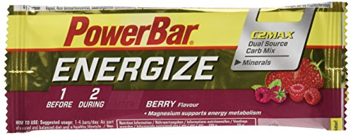 PowerBar PWBB21442443 Energize Bar, Sabor Berry, Infantil, marrón, 55 g (25 Pack)