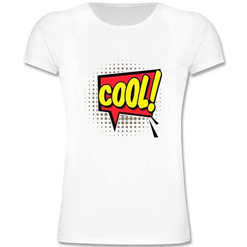 Kindergarten - Popart Karneval Kostüm COOL! - 104 (3-4 Jahre) - Weiß - F131K - Mädchen Kinder (Pop Art Comic Girl Kostüm)