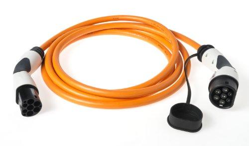 Typ 2 Schnell - Ladekabel (Mode 3) | 22kW 32A 3-phasig | mit Typ 2 Ladestecker & Kupplung (Bals) | 10 Meter | z.B. für Zoe Tesla BMW i3