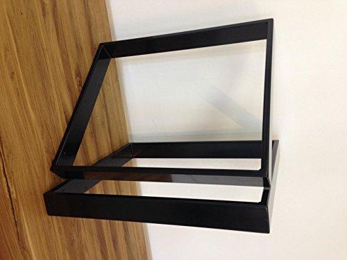 Tischgestell schwarz TR80s-700 Tischuntergestell 700 breit Tischkufe Kufengestell (1Paar)