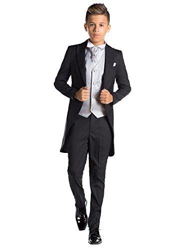 (Paisley of London Jungen Schwarz Kostüm zu Schwanz, Jungen Morning Halt, Jungen Stinkefinger Halt, 12–18Monate–13Jahre Gr. 8 Jahre, Silber)