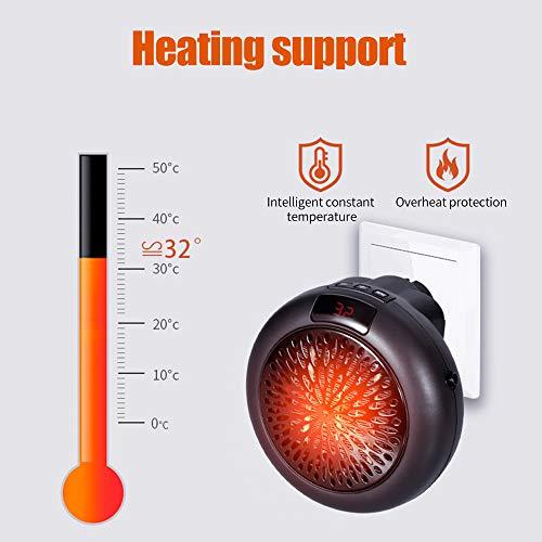 Calefactor Eléctrico de Aire Caliente,KKmoon Calefactor Silencioso,400W Ventilador Calentador,para...