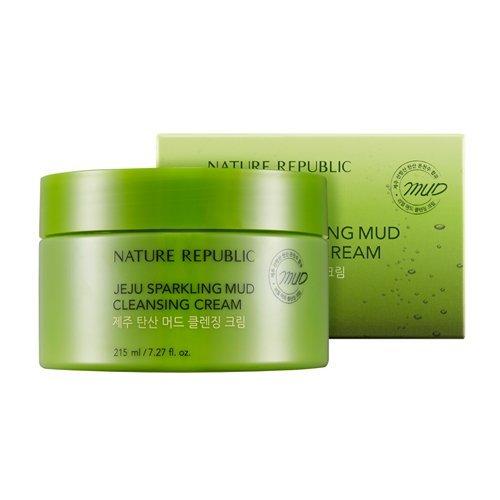 Nature Republic - Jeju Sparkling Mud Cleansing Cream - Reinigungscreme mit Jejuwasser und Mineralien - Gesichtsreinigung mit Kohlensäure