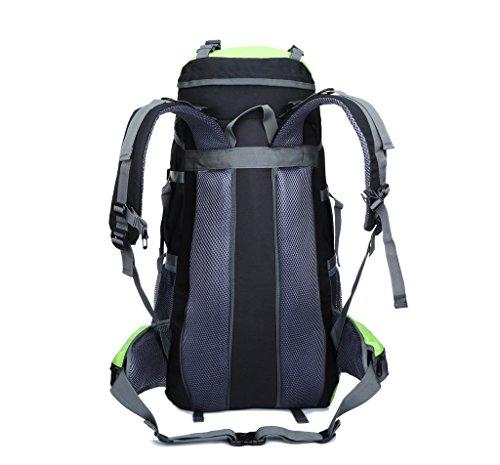 Skysper- 65 Litre Rucksack Backpack for Camping Hiking Travel Biking Cycling Blue