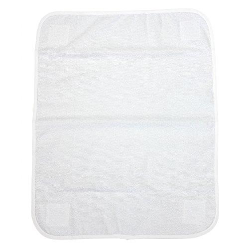 TupTam Ersatztuch für Wickelauflagen - Klettverschluss, Farbe: Weiß, Größe: 44x58cm (Größen 70x70, 76x76)