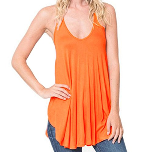 fq-real-dress-womens-orange-racerback-flowy-cami-tank-top-m