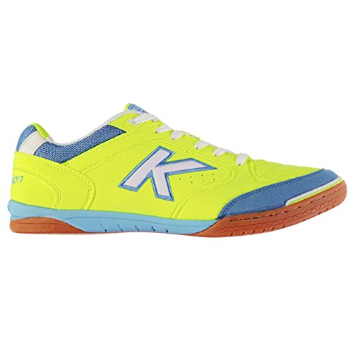 Kelme Herren Precision Indoor Court Fussball Schuhe Sportschuhe Turnschuhe Lime/White/Blue