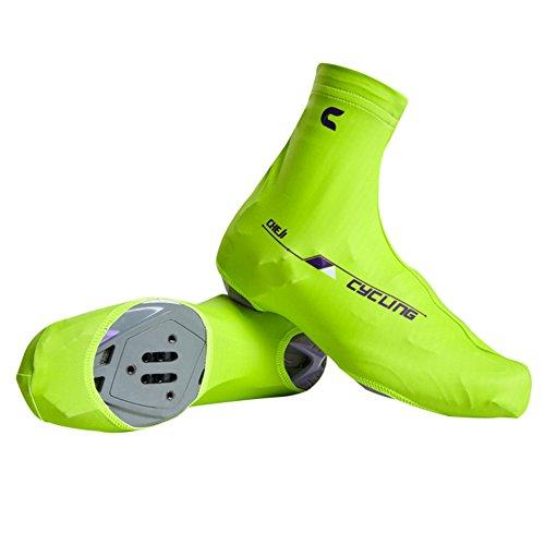 TopTie Schuhüberzieher, Bike Radfahren Überschuhe mit REIßVERSCHLUSS, Grün, MESV-AI76761_GREEN-XL (Radfahren Lycra überschuhe)