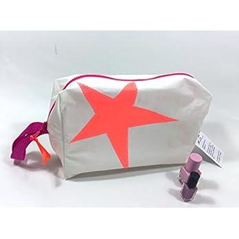 Segeltuch Kulturtasche mit orangen Stern groß