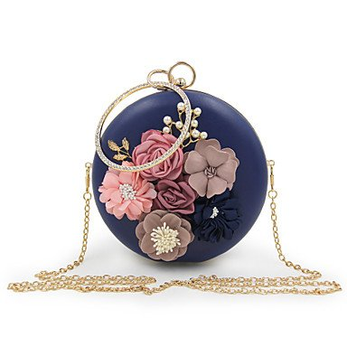 pwne L. In West Woman Fashion Luxus High-Grade Bead Blume Abend Tasche Blue
