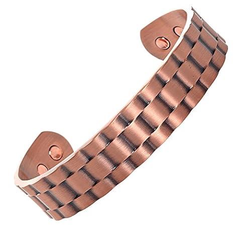 Reines Kupfer magnetisches Armband für Herren und Frauen. Natürliche Schmerzlinderung von Arthritis und Gelenkschmerzen