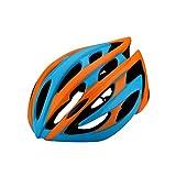 MXZ Casco De Bicicleta, Casco De Bicicleta De Montaña De Carretera Ajustable Ligero Peso Casco Adulto Gorra De Seguridad para Carreras De Bicicletas - Formando Un Cuerpo (Color : Orange)