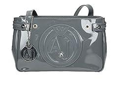 Idea Regalo - Armani Jeans Borsa A Spalla - Borse Donna, Grau (Grigio), 17x10x28 cm (B x H T)