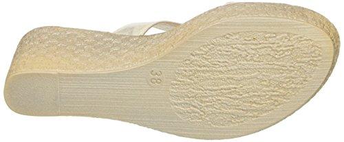 INBLU Damen Ce000041 Sandalen Elfenbein (Bianco)