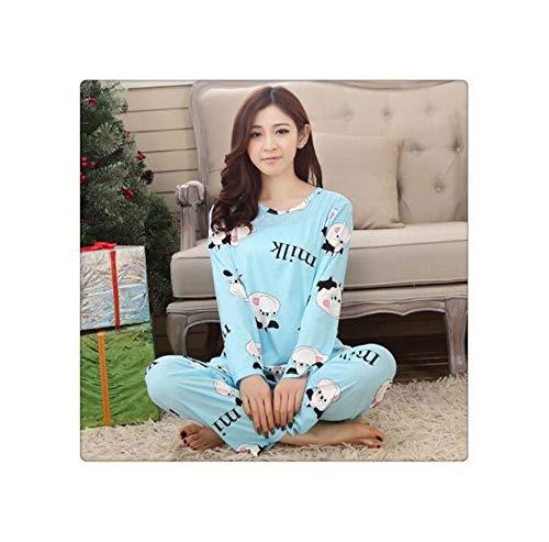 RORIESD& New Listing Foply 2019 Autumn Pyjamas Women Carton Cute Pijama Pattern Pajamas Set Thin Pijamas Mujer Sleepwear 90S Wholesale 13 XL