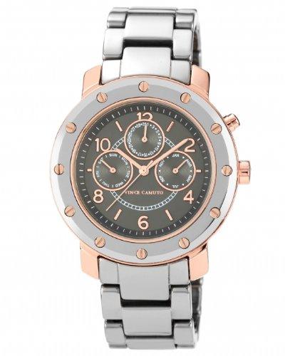 Vince Camuto  VC/5045RGTC - Reloj de cuarzo para mujer, con correa de acero inoxidable, color plateado