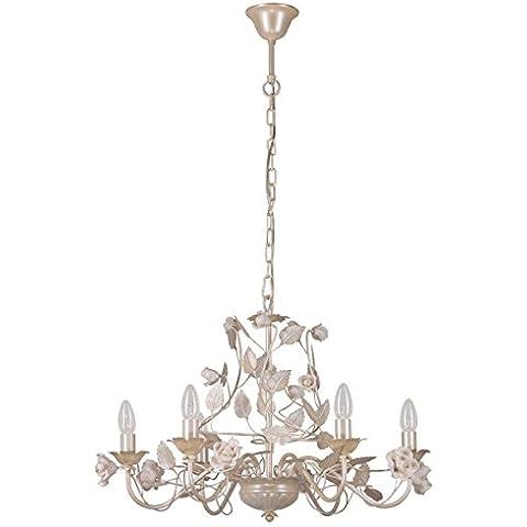 Lampadario da soffitto pendente elegante fiore metallo dipinto in colore