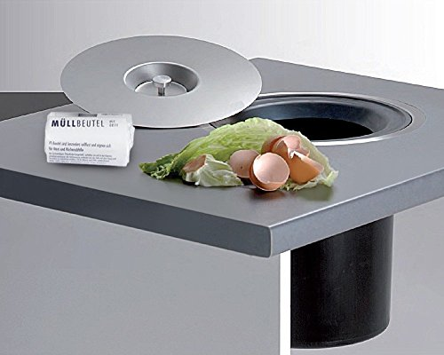 Wesco Ergo-Master Einbau Abfallsammler mit 40x Müllbeutel für die Arbeitsplatte mit Edelstahl...