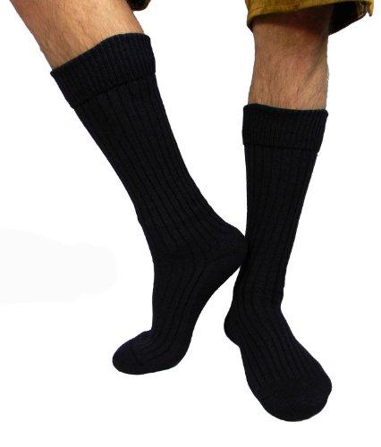 Herren Trachtensocken Trachten Socken Strümpfe für Lederhose Kniebund Kurz Hose 39-42/ 43-46 / 47-49 (43-46, dunkelblau (trs1))