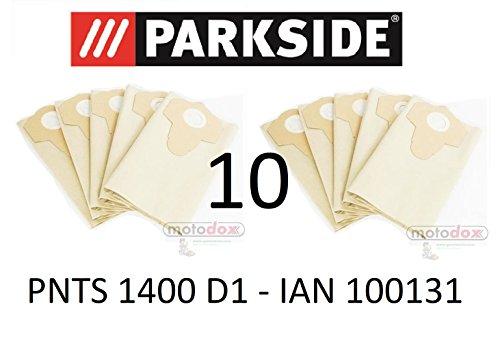 10Sacs d'aspirateur Parkside PNTS 140030L D1Lidl Ian 100131Marron 906–02–Parkside Aspirateur sec humide