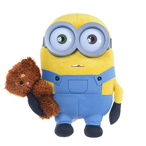 Minions Plüsch Figur - Bob mit Bär 28 cm Premium Plüsch