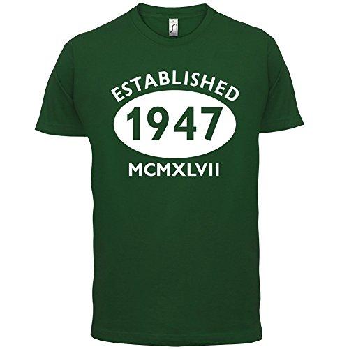 Gegründet 1947 Römische Ziffern - 70 Geburtstag - Herren T-Shirt - 13 Farben Flaschengrün