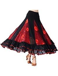 IPOTCH Jupe de Danse Femme en Maille Paillettes Andalouse Adulte Taille  70-106 cm e4453eedf21