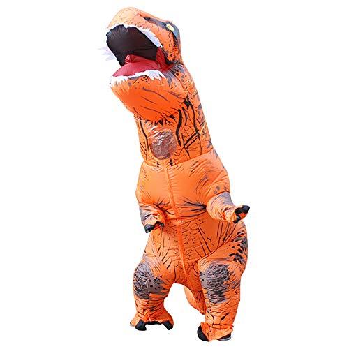 About Beauty Halloween Kinder Aufblasbare T Rex Dinosaurier-Partei-Kostüm Lustige Kleid Und Mit Batterie Betriebenen Ventilator,Orange (Orange Trex Kostüme Für Kinder)