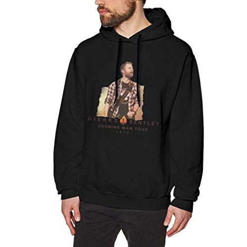 AKKUI Hooded Sweat Herren Kapuzenpullover Linqarcon Man Print Design Dierks Bentley Burning Tour Winter Long Sleeve Hoodies