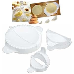 Lot de 3 - Moules à Chaussons, Mini Pizzas, Raviolis - Diam : 12,5 - 10,5 et 8,5 cm