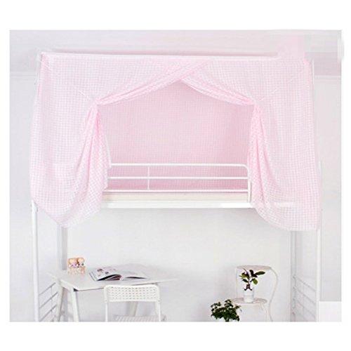 LSS Moskitonetz Schlafsaal Schlafzimmer Vorhänge Obere Etagenbett Student Bettlaken Hellrosa Plaid (Plaid Vorhänge)