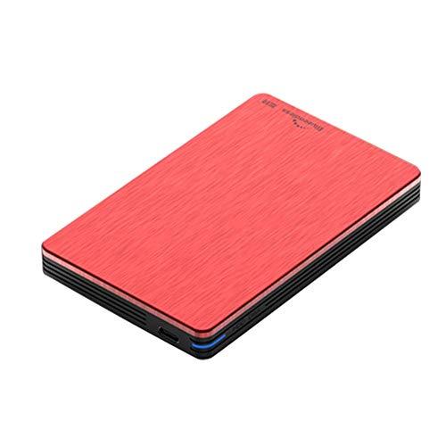 YANWE Tragbare Externe Festplatte,USB3.0 Datenspeicherung Und Sicherung Geeignet Für PC MAC H6(2.5 Inch /160GB~2TB),Red,1TB