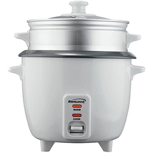 Brentwood Geräte ts-180s 8Tassen Reiskocher mit Dampfgareinsatz, weiß -