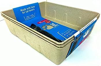 Lot de 3 boîtes à litière jetables XL pour Chat - Convient à Tous Les Types de litière - Respectueux de l'environnement - Biodégradable - Anti-Fuite - Moins d'odeurs - Nettoyage Facile et jetable