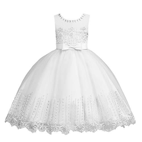 LouiseEvel215 Kinder Kleid Pettiskirt Blumenmädchen Hochzeit Kurze Prinzessin Mädchen Kleid Festzug Kleider Kinder Prom Ballkleid -