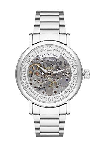 jean-bellecour-montre-tour-du-monde-acier-mens-automatic-watch-with-silver-dial-analogue-display-and