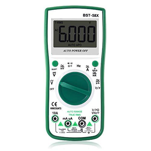 BESTSUGER Digitalmultimeter, Multimeter AC/DC-Voltmeter, LED-Anzeige mit 10A-Strom- und Widerstandstestmeßgerät -