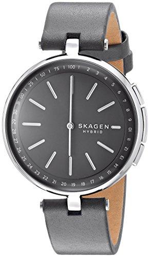 Skagen Mixte Analogique Quartz Montre connectée avec Bracelet en Cuir SKT1401