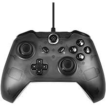 TUTUO Nintendo Switch Wired Mando Pro Controller, Controlador Mando Alámbrico para Nintendo Switch (Negro)