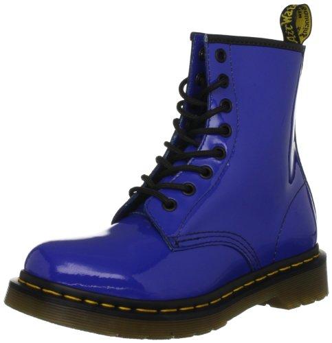 Dr. Martens 1460 Patent 1460 W-W - Botas fashion de charol para mujer, color azul, talla 37
