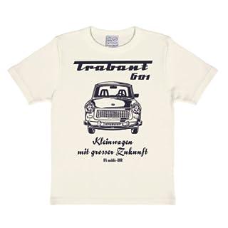 Logoshirt Trabant 601 T-Shirt Kinder Jungen - altweiß - Lizenziertes Originaldesign, Größe 170/176, 15-16 Jahre