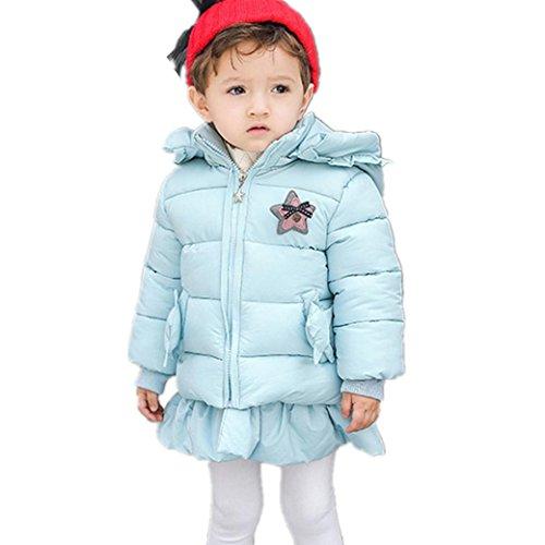 Longra Winter Mantel Winterjacke Mädchen Neugeborenes kleikind Baby Outdoorjacken verdickte mit Kapuze Trenchcoat Outerwear Steppjacke warm...