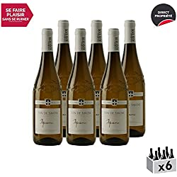 Vin de Savoie Apremont Blanc 2018 - Philippe et Sylvain Ravier - Vin AOC Blanc de Savoie - Bugey - Cépage Jacquère - Lot de 6x75cl