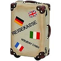 Preisvergleich für Spardose,Sparschwein Reisekoffer, Koffer im Retro-Look ca. 15 cm x 11 cm