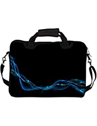 """Snoogg Dark Blue Abstract Design 12"""" 12.5"""" 12.6"""" Inch Laptop Notebook SlipCase With Shoulder Strap Handle Sleeve..."""
