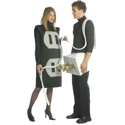 Kostüme Stecker und Steckdose 2 in 1 für Paare - ()