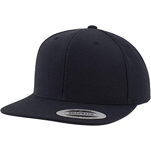 Flexfit Classic Snapback Cap, Mütze Unisex Kappe für Damen und Herren, One Size, Farbe darknavy/darknavy