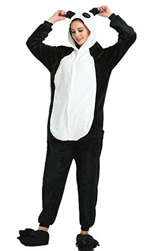(Missley Einhorn Pyjamas Kostüm Overall Tier Nachtwäsche Erwachsene Unisex Cosplay (M, Panda))