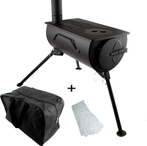 Confort Portable Poêle à bois cuisinière Chauffage de camping avec sac de transport
